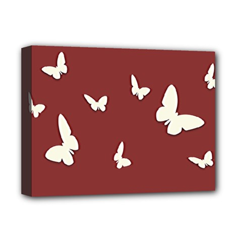 Heart Love Butterflies Animal Deluxe Canvas 16  X 12  (stretched)  by HermanTelo