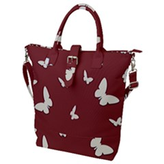 Heart Love Butterflies Animal Buckle Top Tote Bag