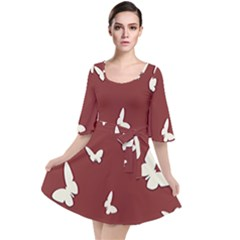 Heart Love Butterflies Animal Velour Kimono Dress