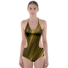 Creative Original Intention Cut Out One Piece Swimsuit by HermanTelo