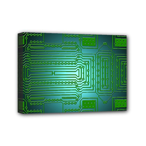 Board Conductors Circuits Mini Canvas 7  X 5  (stretched) by HermanTelo
