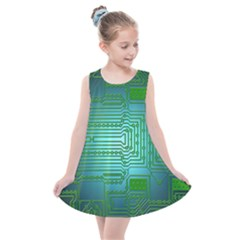 Board Conductors Circuits Kids  Summer Dress by HermanTelo