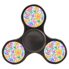 Floral Paisley Background Flower Yellow Finger Spinner by HermanTelo