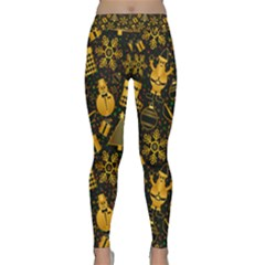 Christmas Background Gold Classic Yoga Leggings by HermanTelo