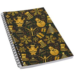 Christmas Background Gold 5 5  X 8 5  Notebook