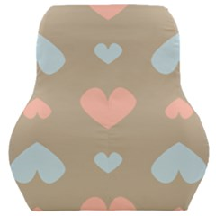 Hearts Heart Love Romantic Brown Car Seat Back Cushion