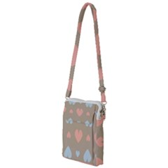 Hearts Heart Love Romantic Brown Multi Function Travel Bag