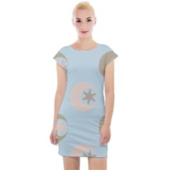 Moon Star Air Heaven Cap Sleeve Bodycon Dress by HermanTelo