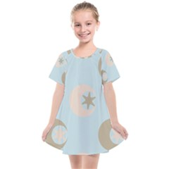 Moon Star Air Heaven Kids  Smock Dress by HermanTelo