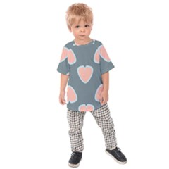 Hearts Love Blue Pink Green Kids  Raglan Tee