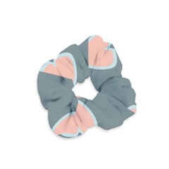 Hearts Love Blue Pink Green Velvet Scrunchie by HermanTelo