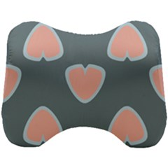 Hearts Love Blue Pink Green Head Support Cushion