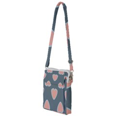 Hearts Love Blue Pink Green Multi Function Travel Bag