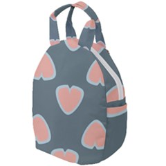 Hearts Love Blue Pink Green Travel Backpacks