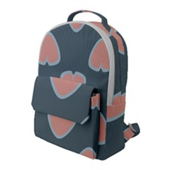 Hearts Love Blue Pink Green Flap Pocket Backpack (large)