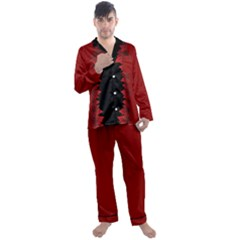 Men s Canada Satin Pajamas Long Pants Set