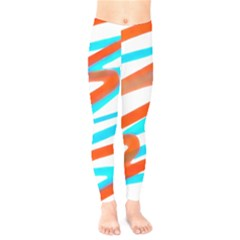 Abstract Colors Print Design Kids  Legging by dflcprintsclothing