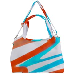 Abstract Colors Print Design Double Compartment Shoulder Bag by dflcprintsclothing