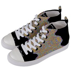 Pearls As Candy Women s Mid Top Canvas Sneakers by pepitasart