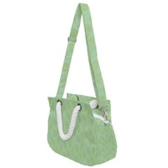 Leaves   Light Green Rope Handles Shoulder Strap Bag by WensdaiAmbrose