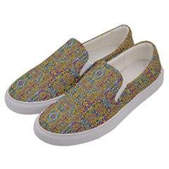 Pearls As Candy And Flowers Men s Canvas Slip Ons by pepitasart