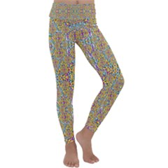 Pearls As Candy And Flowers Kids  Lightweight Velour Classic Yoga Leggings by pepitasart
