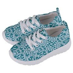 Decorative Blue Floral Pattern Kids  Lightweight Sports Shoes by tarastyle