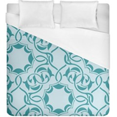Decorative Blue Floral Pattern Duvet Cover (king Size) by tarastyle