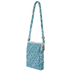 Decorative Blue Floral Pattern Multi Function Travel Bag by tarastyle