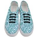Decorative Blue Floral Pattern Women s Classic Low Top Sneakers View1