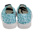 Decorative Blue Floral Pattern Women s Classic Low Top Sneakers View4