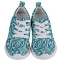 Decorative Blue Floral Pattern Kids  Lightweight Sports Shoes View1