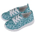 Decorative Blue Floral Pattern Kids  Lightweight Sports Shoes View2