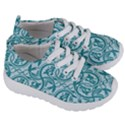 Decorative Blue Floral Pattern Kids  Lightweight Sports Shoes View3