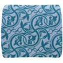 Decorative Blue Floral Pattern Back Support Cushion View1