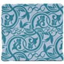 Decorative Blue Floral Pattern Back Support Cushion View4