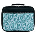 Decorative Blue Floral Pattern Lunch Bag View1