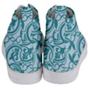 Decorative Blue Floral Pattern Women s Mid-Top Canvas Sneakers View4