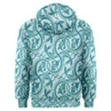Decorative Blue Floral Pattern Men s Overhead Hoodie View2