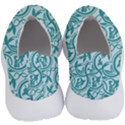 Decorative Blue Floral Pattern No Lace Lightweight Shoes View4