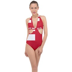 Ulster Loyalist Flag Halter Front Plunge Swimsuit by abbeyz71