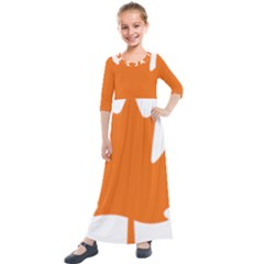 Logo Of New Democratic Party Of Canada Kids  Quarter Sleeve Maxi Dress by abbeyz71