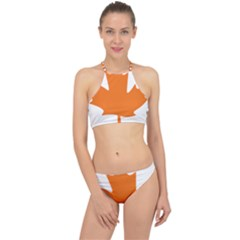 Logo Of New Democratic Party Of Canada Racer Front Bikini Set