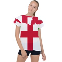 Flag Of Anglican Church Of Canada Ruffle Collar Chiffon Blouse