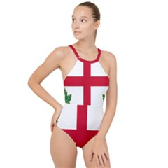 Flag Of Anglican Church Of Canada High Neck One Piece Swimsuit by abbeyz71