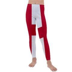 Flag Of Anglican Church Of Canada Kids  Lightweight Velour Leggings by abbeyz71