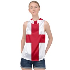 Flag Of Anglican Church Of Canada High Neck Satin Top by abbeyz71