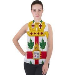 Coat Of Arms Of Anglican Church Of Canada Mock Neck Chiffon Sleeveless Top by abbeyz71