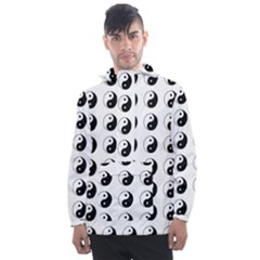 Yin Yang Pattern Men s Front Pocket Pullover Windbreaker by Valentinaart
