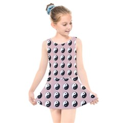 Yin Yang Pattern Kids  Skater Dress Swimsuit by Valentinaart